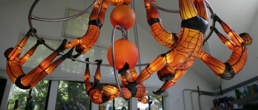 David bennett glass artist glass sculpture studio art glass chandelier blown glass and bronze aloadofball Gallery